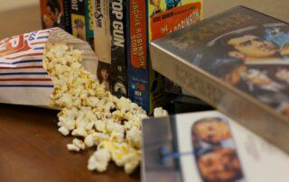 movies & popcorn at Royal Columbian